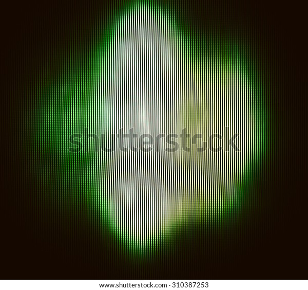 Square Vivid Olive Green Abstract Interlaced Stock Illustration