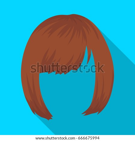 Royalty Free Stock Illustration Of Square Back Hairstyle Single Icon