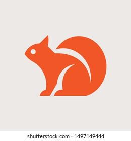 Squirrel Logo. Icon design. Template elements