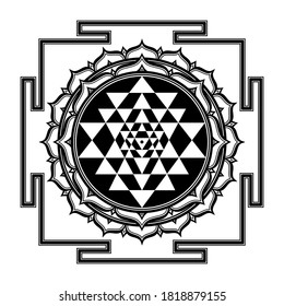 The Sri Yantra Symbol Mandala Sacred Geometry