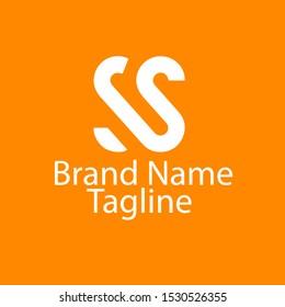 SS logo design and unique logo letter ss