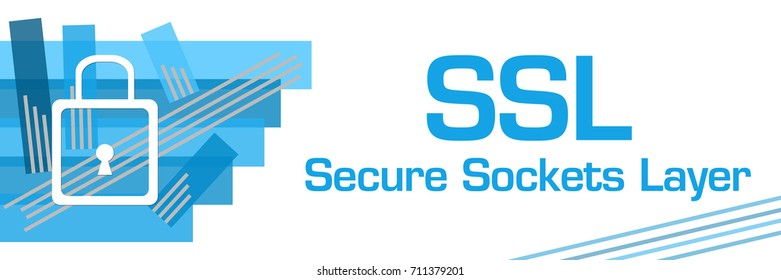 SSL - Secure Sockets Layer Blue Stroked Stripes