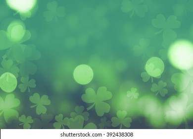 st. patrick's day abstract green background for design