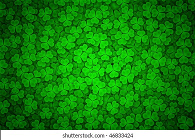 St. Patrick's day background in black and green colors