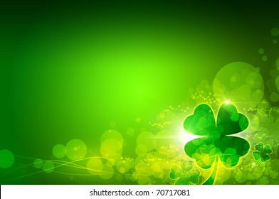 St. Patrick's day background. Clover background.