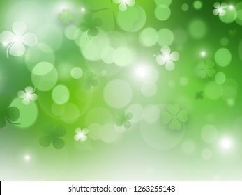 St. Patrick's Day, Green background by a St. Patrick's Day - Illustration