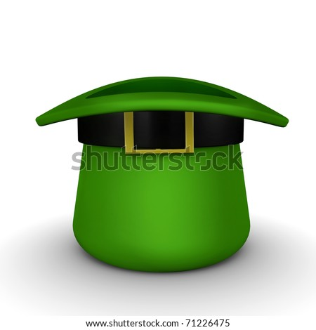 St Patricks Day Hat Upside Down Stock Illustration 71226475