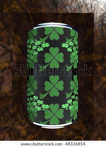 royalty free stock illustration of st patricks day patterned tin can