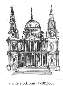 St. Paul's Cathedral London sketch