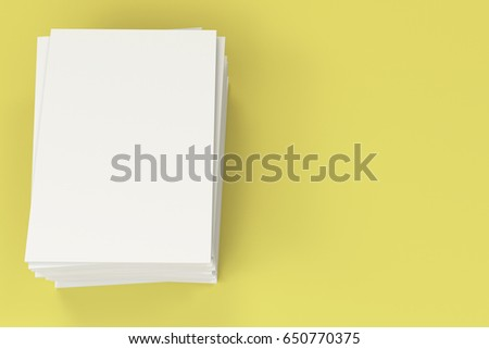 stack blank white closed brochure mockup stock illustration