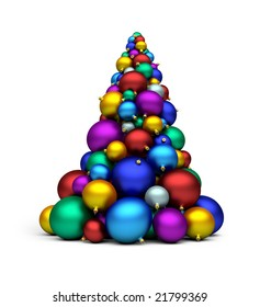 a stack of colorful bomblets; 3d rendering