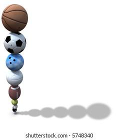 SPORTS Mix  Chocolate Candy  Mold  Bowling baseball Hokey Football Basketball