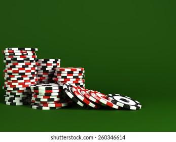 Stacks of casino chips