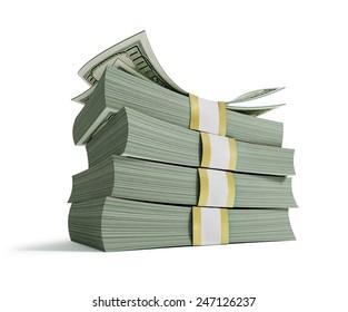 Stacks of Hundred US Dollars.