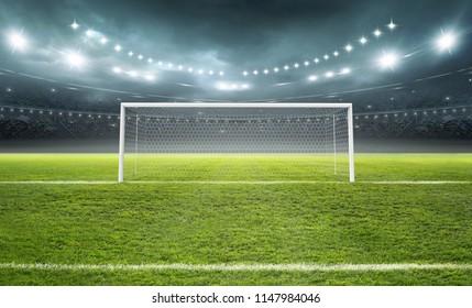 stadium goal 3d rendering