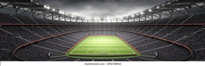 stadium imaginary 3d rendering