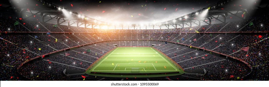 stadium imaginary 3d rendering