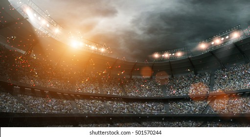 stadium light 3d rendering