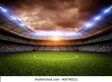 stadium light and night