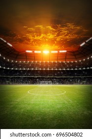 stadium sunset 3d render