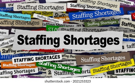 Staffing Shortages News Headlines Fill Open Jobs Find Employees 3d Illustration