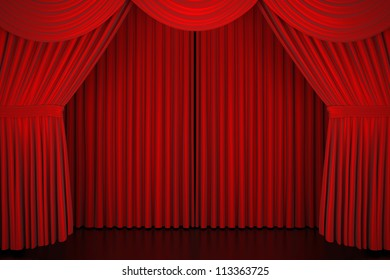 Stage curtain - High quality render -