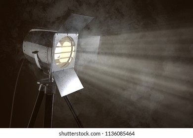 Stage light in front of smoke background (3D Rendering)