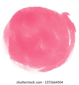 stain with watercolor pink paint a circle