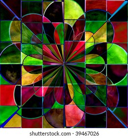 Stained Glass Flower Abstract