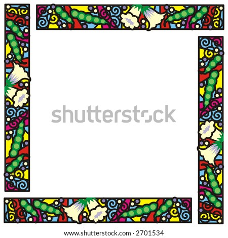 Royalty Free Stock Illustration Of Stained Glass Frame Four Panel