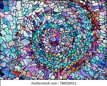 Stained Glass series. Design composed of organic patterns as a metaphor on the subject of spirituality, imagination, creativity and art