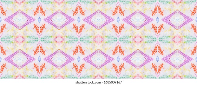 Stains Geometry. Gouache on White Background. Shabby Grunge Armor. Endless Wash Drawing Dots. Hand Drawn Grunge Style. Colorful Strokes. Ethnic Pattern. elements Effect.