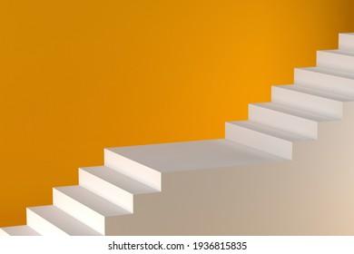 stair background image, 3D rendering