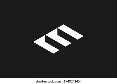 The staircase logo that forms the letter E. On Black Background