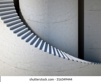 stairs background, abstract 3d illustration