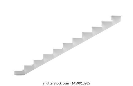 stairs front or side view isolated on a white background 3d rendering illustration