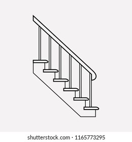 Stairs icon line element.  illustration of stairs icon line isolated on clean background for your web mobile app logo design.