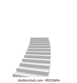stairs leading up. computer generation
