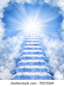 Stairs in sky to heaven