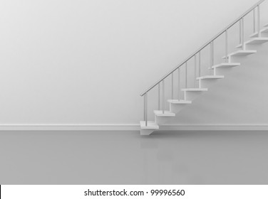 stairs in the white room