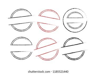 Stamp art set. Stamp grunge illustration