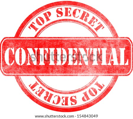 Stamp Confidential Top Secret Stockillustration 154843049 Shutterstock