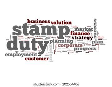 Stamp duty word cloud