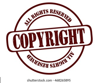 4ebfa3d807a3b7 Circle Grunge Stamp Copyright All Rights Stock Vector (Royalty Free ...