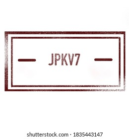 Stamp with the text JPK V7, name of the tax declaration in Poland