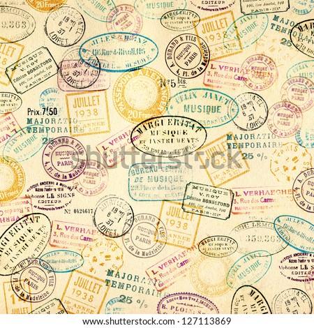 stamps background stock illustration 127113869 shutterstock