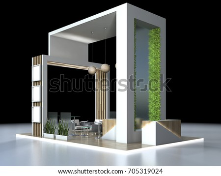 D Exhibition Design : Stand d exhibition design view stock illustration royalty