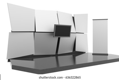 Stand. 3D rendering