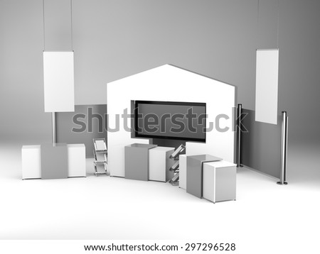 Big Exhibition Stand Design : Royalty free stock illustration of stand design exhibition big tv