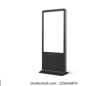 Stand Display Sign. 3D rendering
